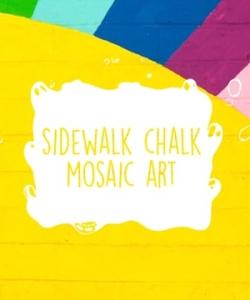 Winter Activity Kit Craft Tutorial: Sidewalk Chalk Mosaic Art